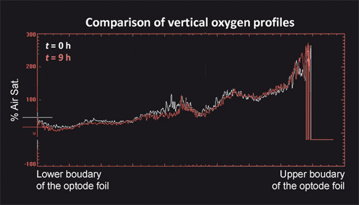 Comparison of vertical O2 profiles