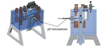 Overview and cross section of modified diffusion chamber
