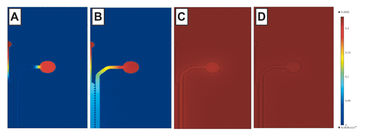 Projected O2 consumption of Hep and EC in microfluidic devices