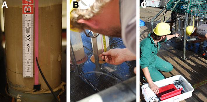Pore water oxygen measurements in deep sea sediments