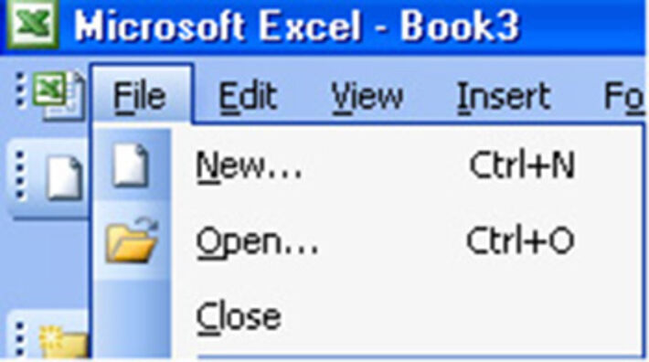 Screenshot showing how to open a file in Microsoft Excel.