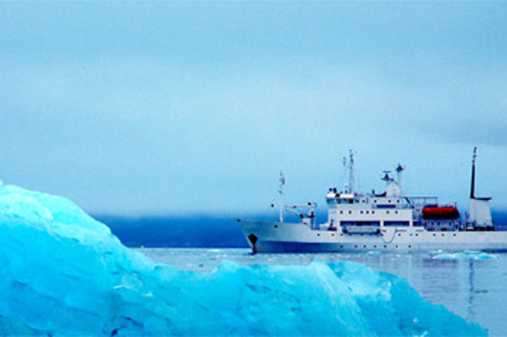 catogery image bio & environmental, research ship in the arctic