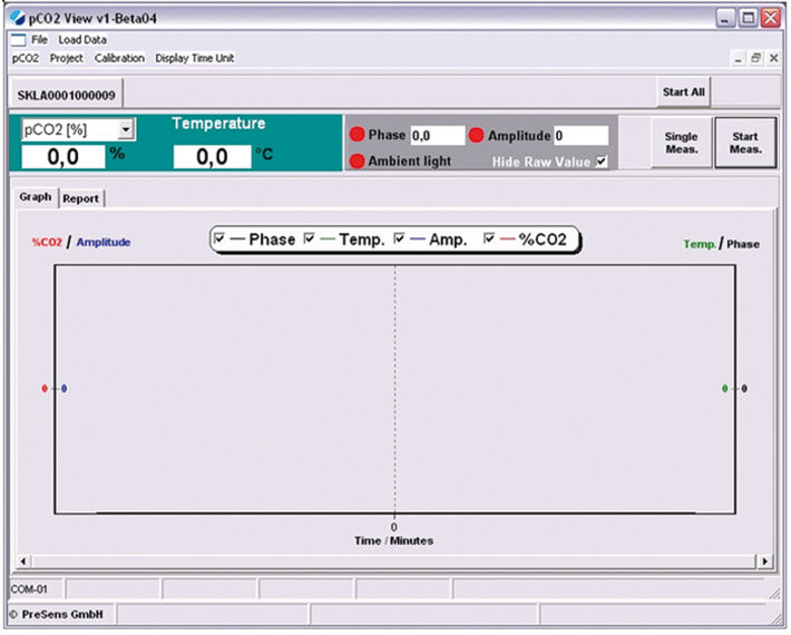 Screenshot of pCO2 view_v1 measurement control software