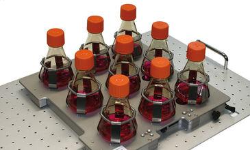SFR with sensor flasks for non-invasive DO & pH monitoring