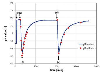 Typical pH profile measured with the Optrode Dual