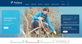 PreSens Website screenshot, Dec 2016