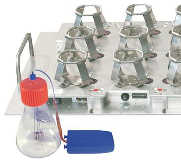 Glucose sensor integrated in sensor flask with optical O2 and pH sensor & SFR