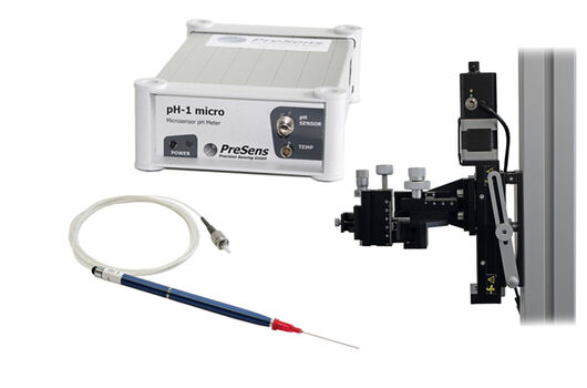 pH-1 micro with Profiling pH Microsensors and the Automated Micromanipulator