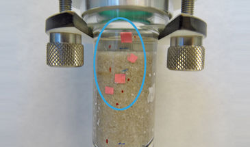 Optical O2 monitoring within artifical sediment column